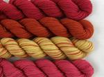 Pack of 4 small hanks of BFL sock yarn - Chaud image