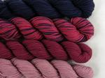 Indigo Quartet - Pack of 4 small hanks of BFL - 100g image