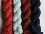 Iseult - Pack of 4 small hanks of Organic 4-ply - 100g image
