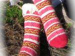 Frivolitée sock knitting kit image