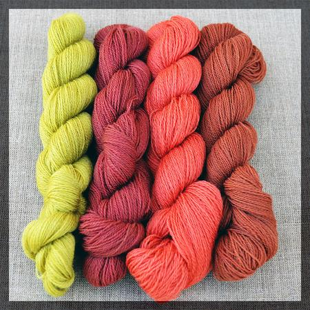 4 x 250m lace-weight Autumn