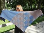 i love Indigo shawl designed by Hélène Marcy image