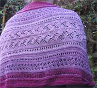 Purple Saraste Moebius shrug