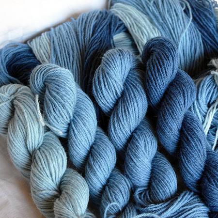 Indie 4 x 25 g Indigo dyed Poll Dorset