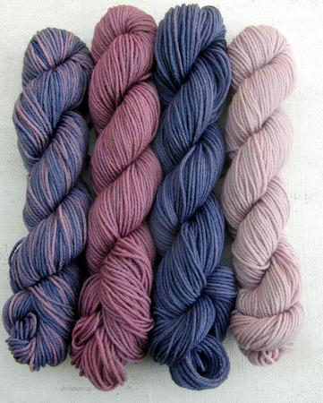 Bundle of 4 x 25gm 4-ply fingering Merinos d'Arles