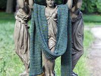 Tweedy scarf by Hélène Marcy