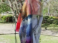 a Kind of Rainbow shawl, long drape