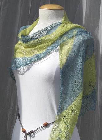 Budding Lotus shawl
