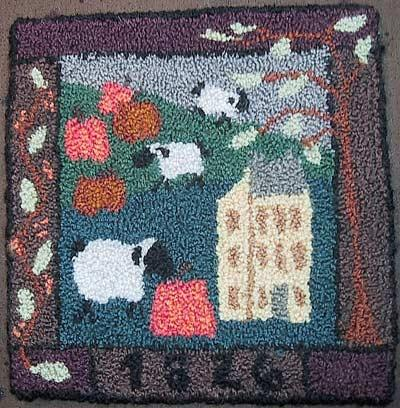 punch needle kit- meadow sheep