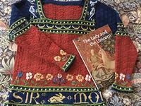Mon Seul Desir sweater designed by vintage knit designer Kate Wallace.