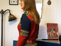 Kate and her Mon Seul Desir sweater - back view