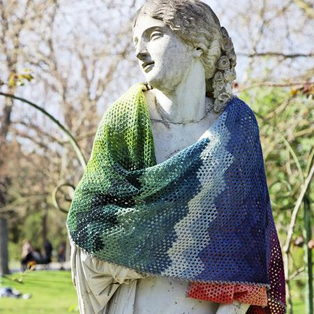 a Kind of Rainbow shawl