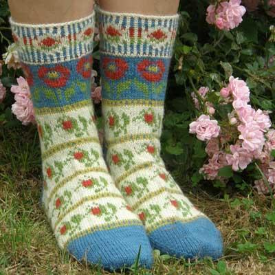 Roman de la Rose Socks