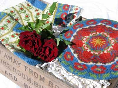 Roman de la Rose Socks and Tam