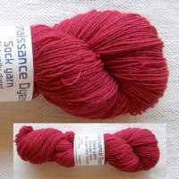 100 gm  BFL Cherry Coloured Twist