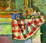 Still Life with Checked Tablecloth by Matisse