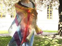 Renaissance Stripes shawl