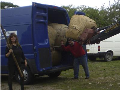 Loading of the last bale