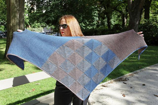 i love indigo shawl